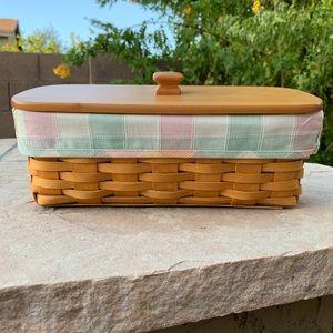 🌸 Longaberger Handwoven Accessory Basket 🌸